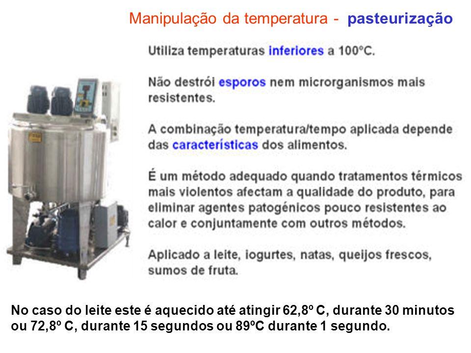 Manipulação da temperatura - pasteurização