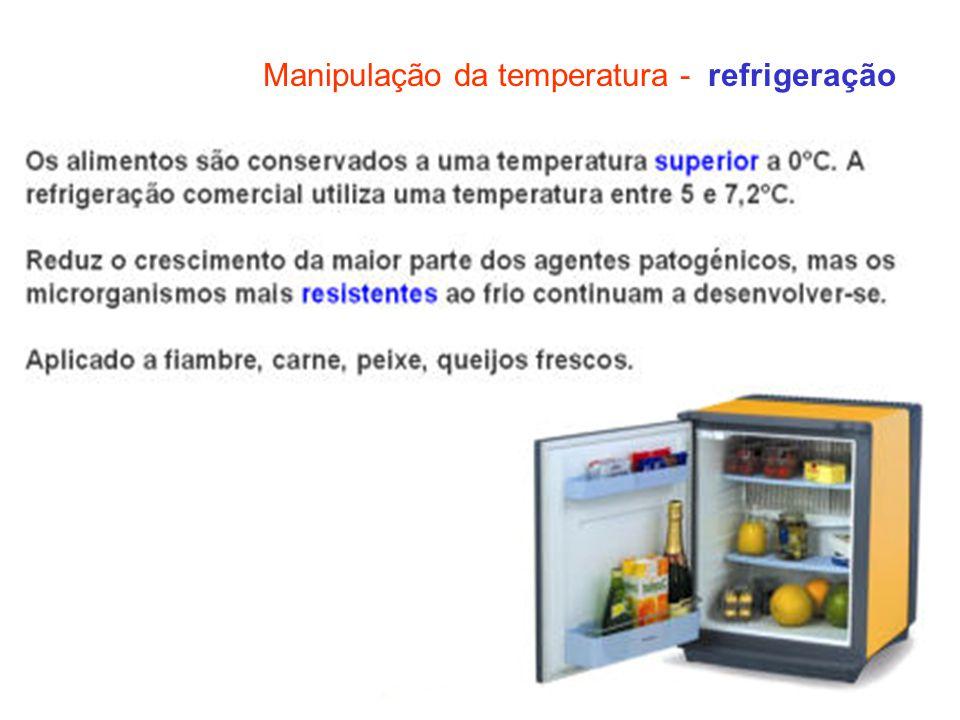 Manipulação da temperatura - refrigeração