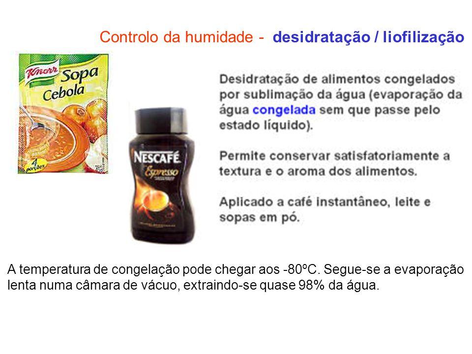 Controlo da humidade - desidratação / liofilização