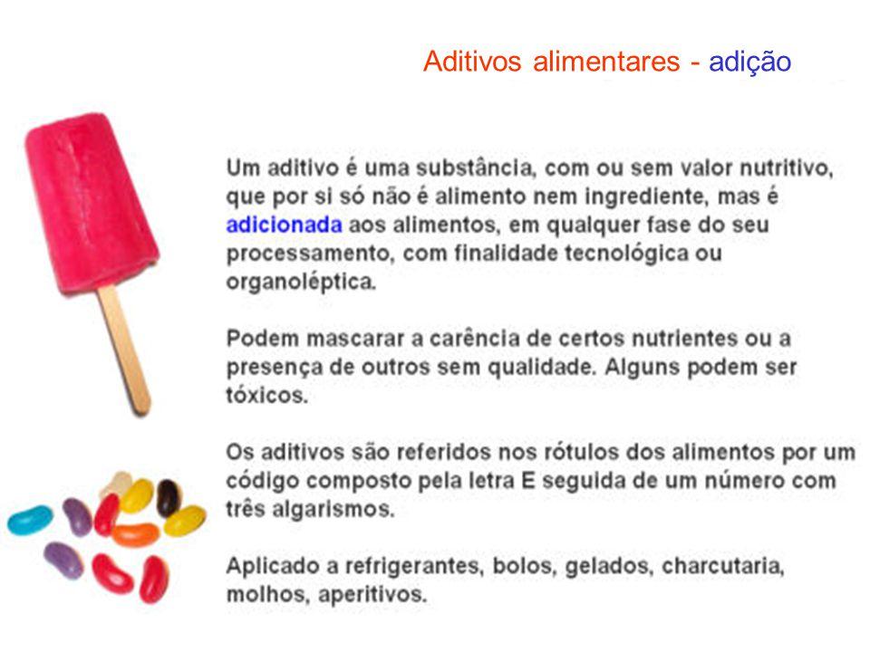 Aditivos alimentares - adição