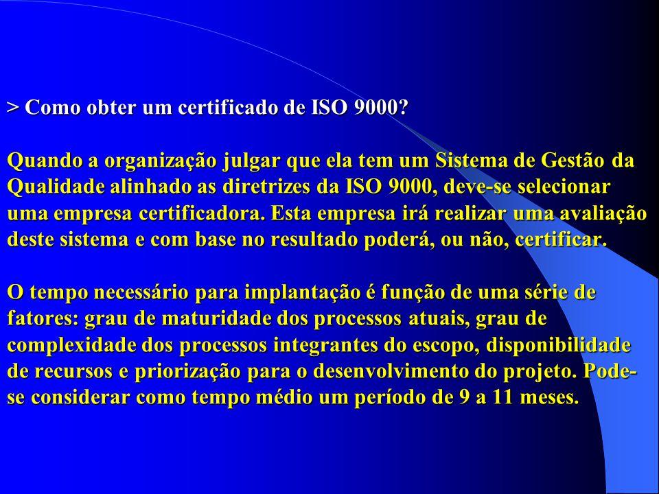 > Como obter um certificado de ISO 9000