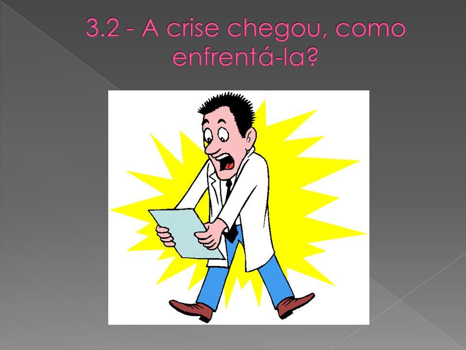 3.2 - A crise chegou, como enfrentá-la
