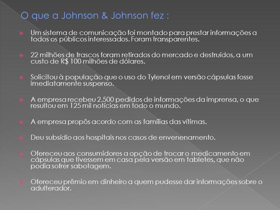 O que a Johnson & Johnson fez :