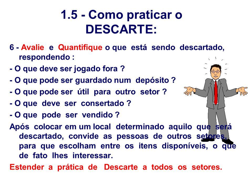 1.5 - Como praticar o DESCARTE: