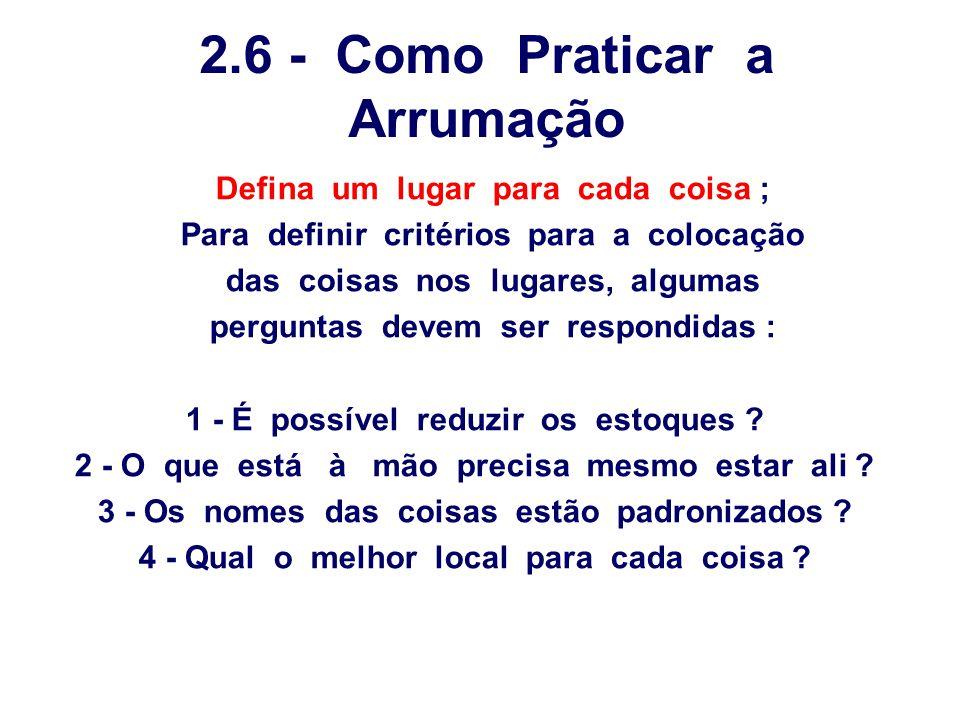 2.6 - Como Praticar a Arrumação