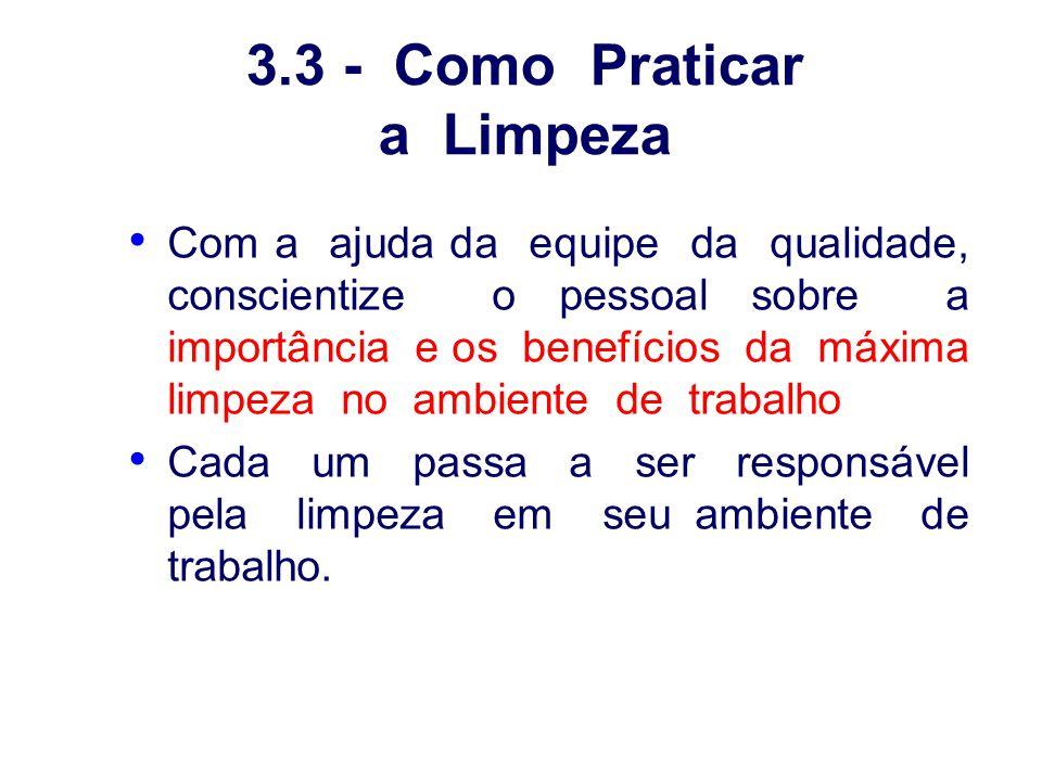 3.3 - Como Praticar a Limpeza