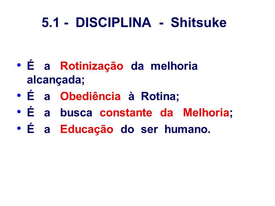 5.1 - DISCIPLINA - Shitsuke
