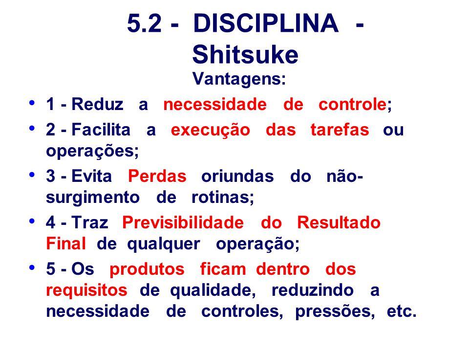 5.2 - DISCIPLINA - Shitsuke