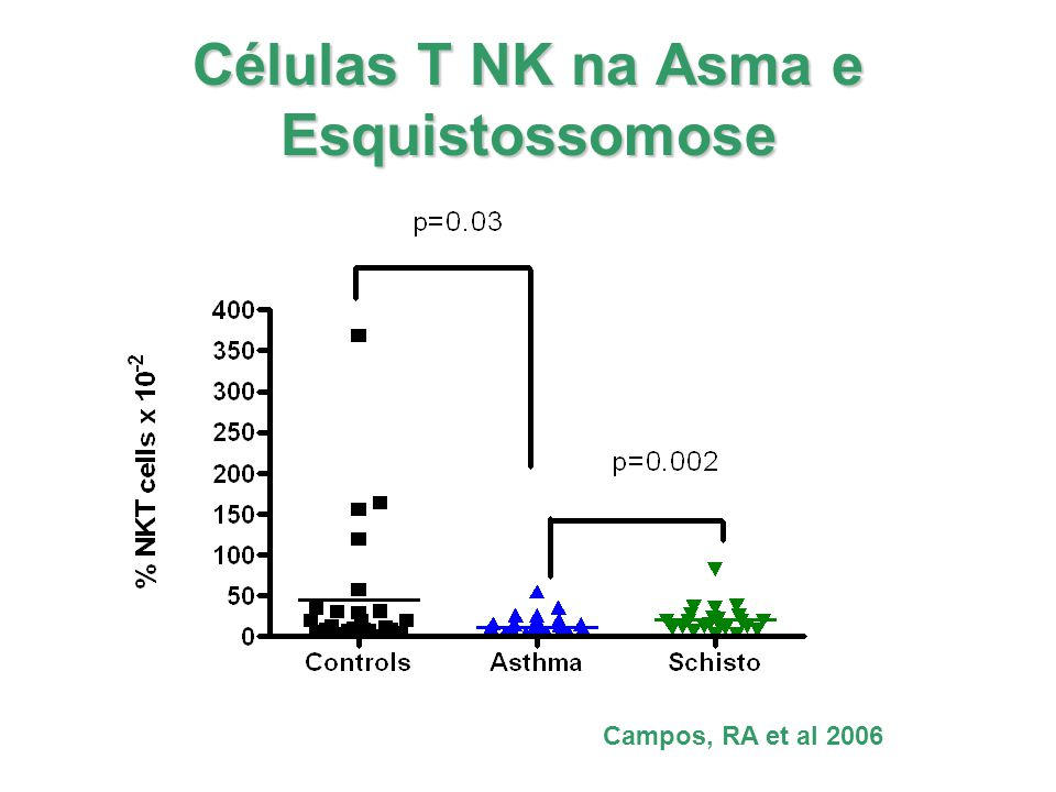 Células T NK na Asma e Esquistossomose