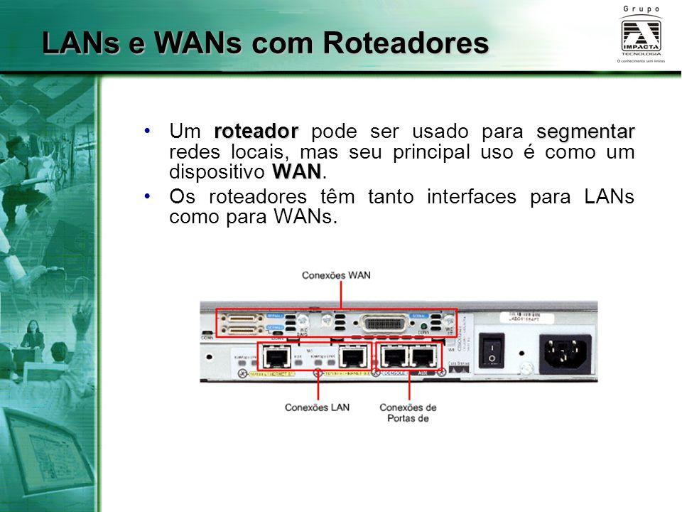LANs e WANs com Roteadores