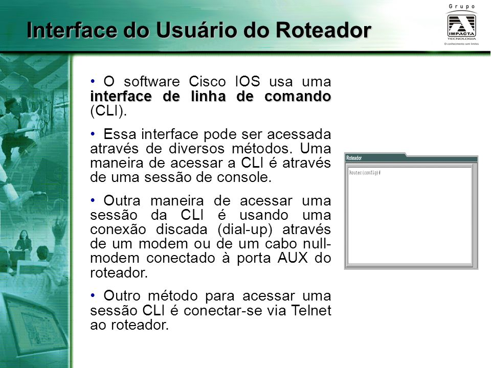 Interface do Usuário do Roteador