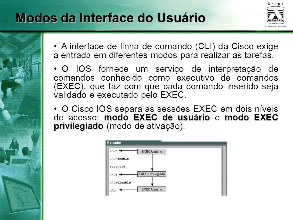 Modos da Interface do Usuário