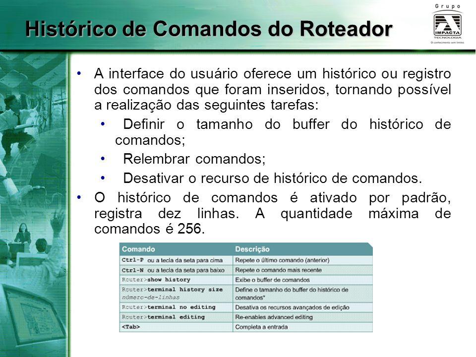 Histórico de Comandos do Roteador
