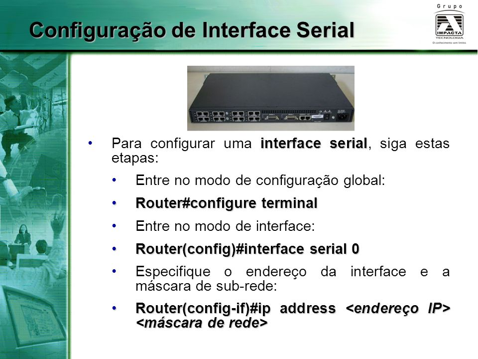 Configuração de Interface Serial