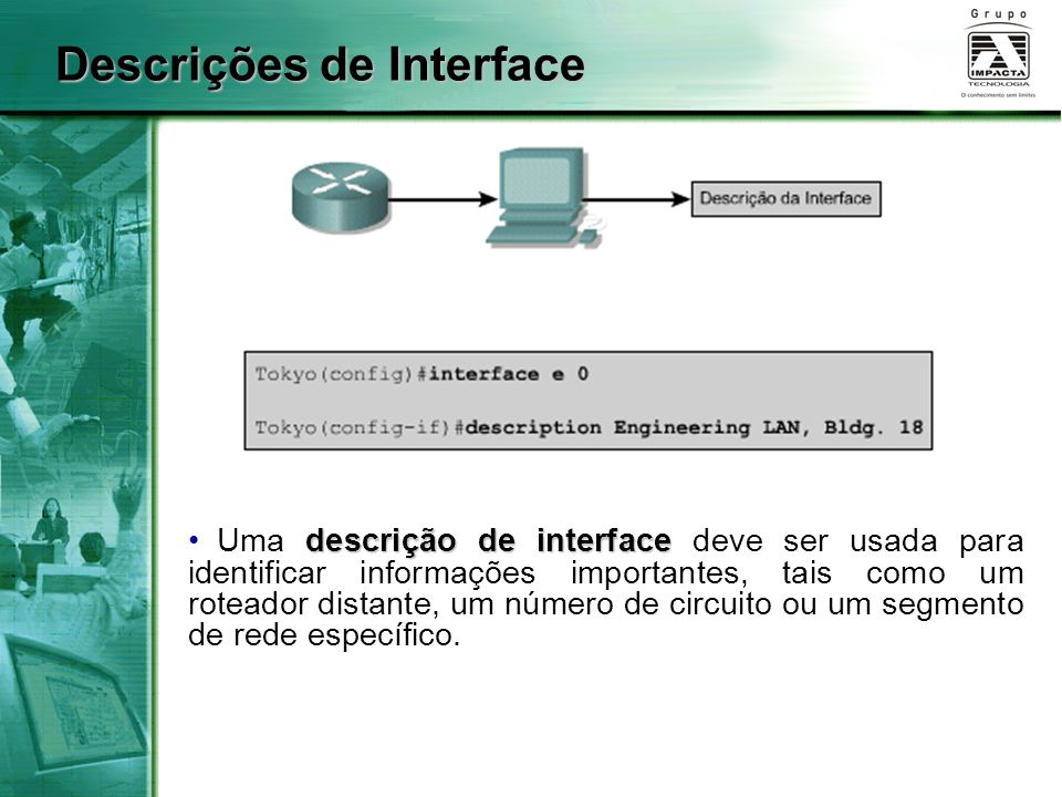 Descrições de Interface