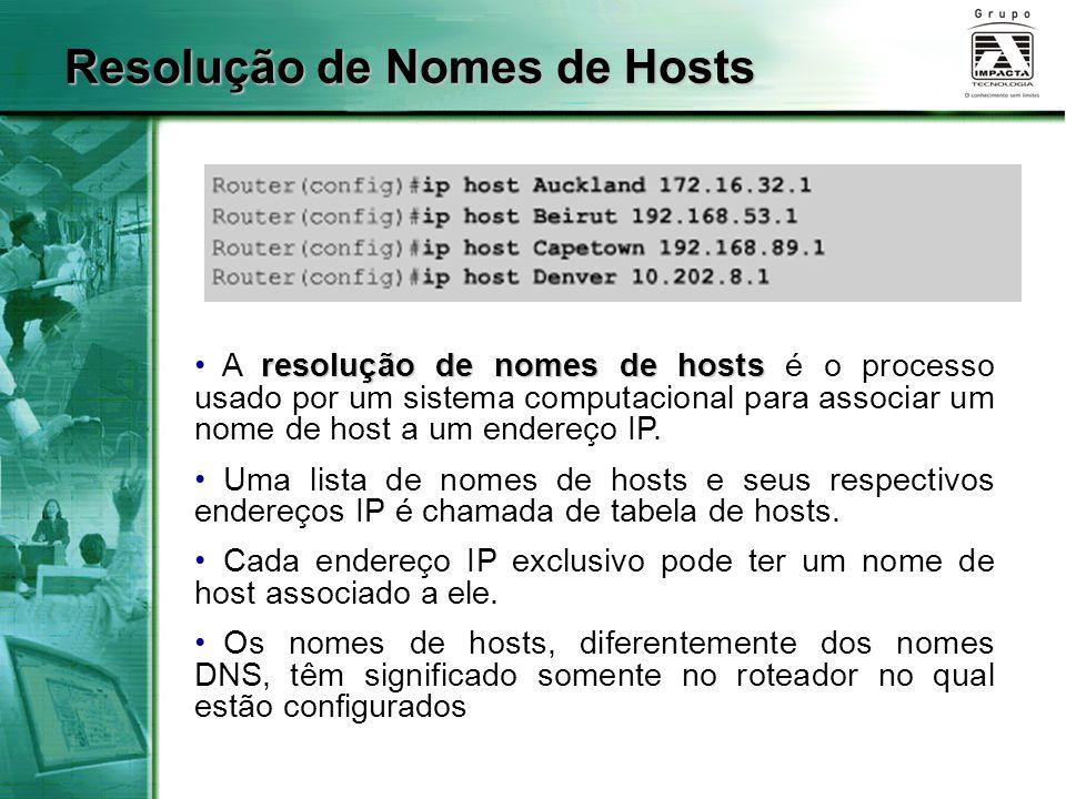 Resolução de Nomes de Hosts
