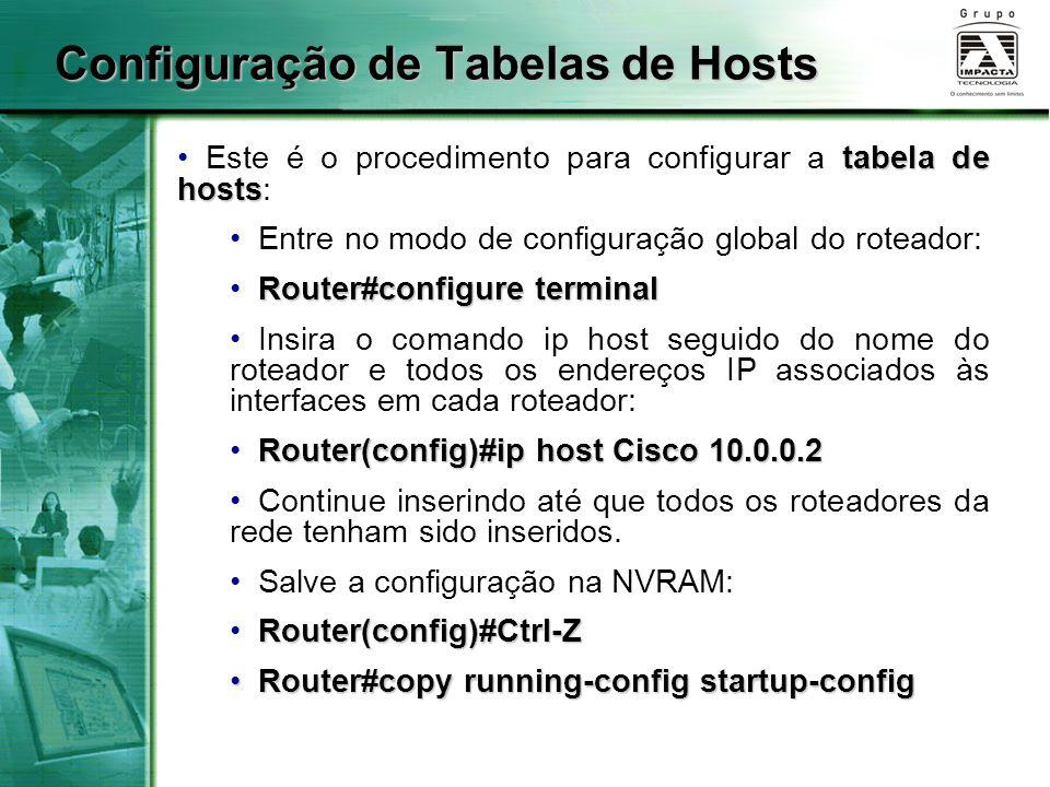 Configuração de Tabelas de Hosts