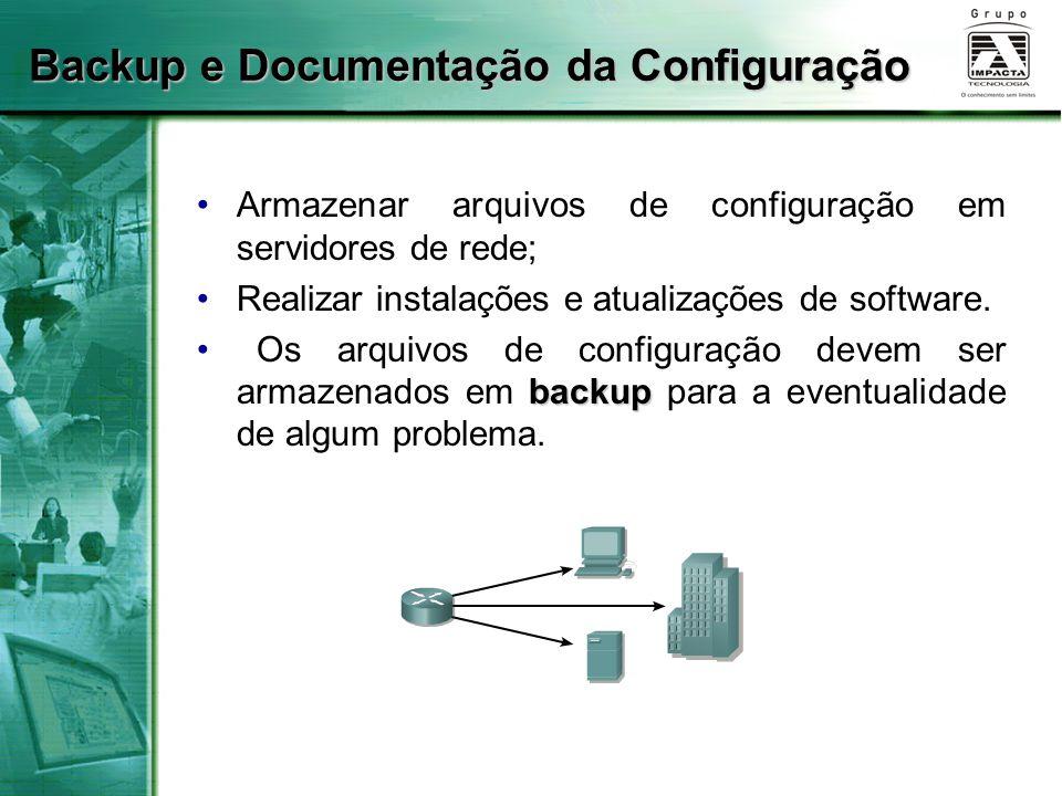 Backup e Documentação da Configuração