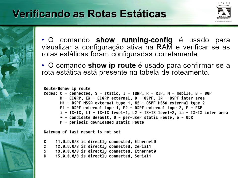 Verificando as Rotas Estáticas