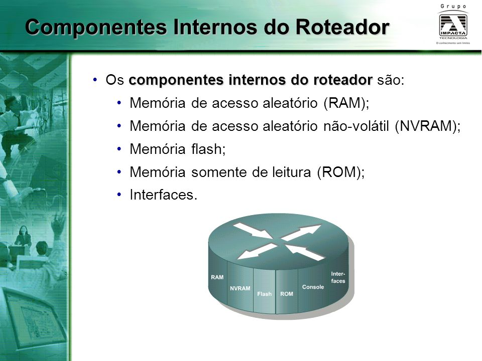 Componentes Internos do Roteador