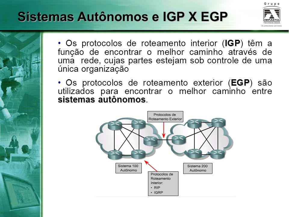 Sistemas Autônomos e IGP X EGP