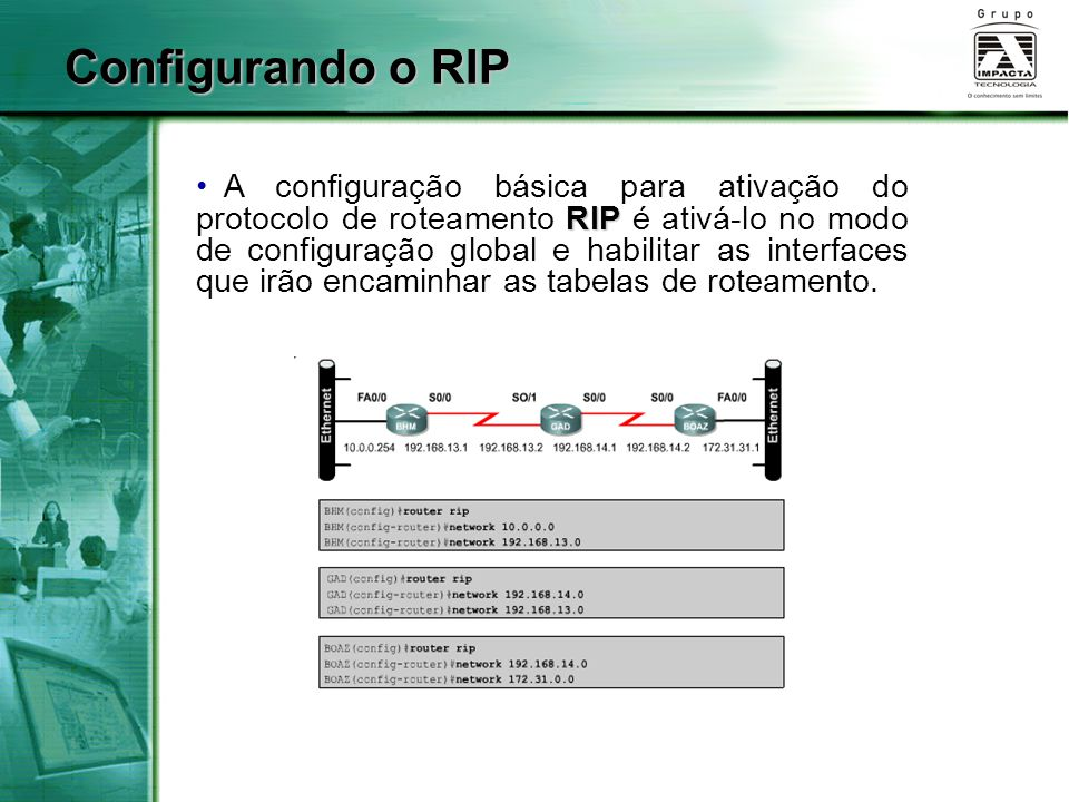 Configurando o RIP