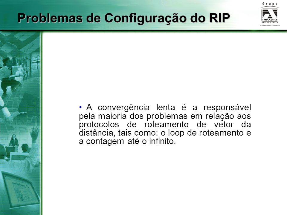 Problemas de Configuração do RIP