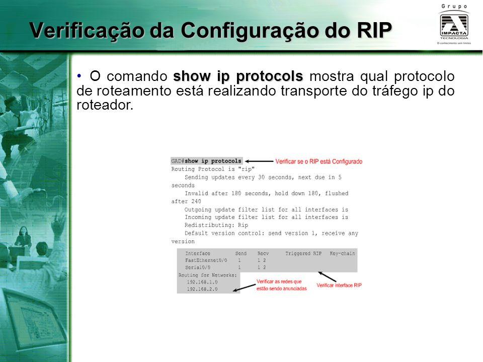 Verificação da Configuração do RIP