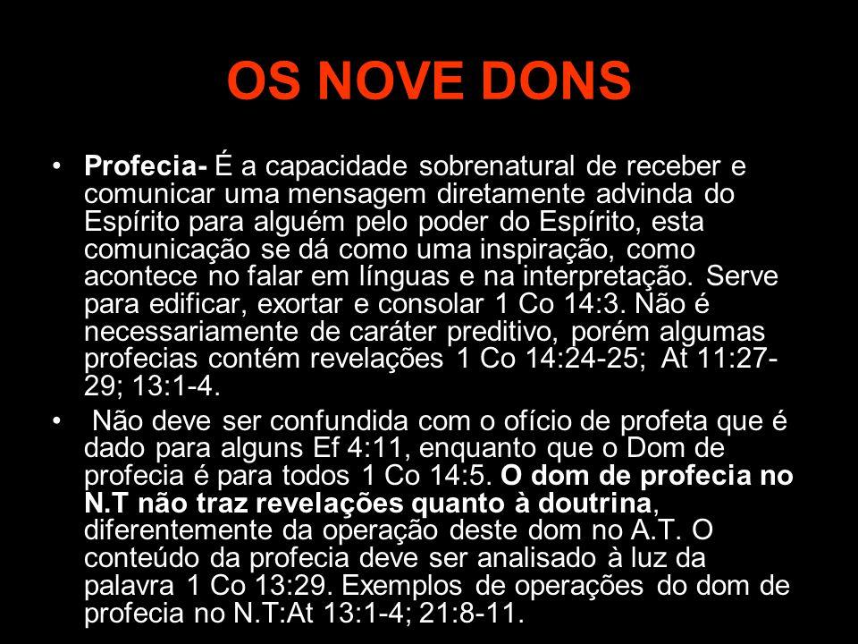 OS NOVE DONS