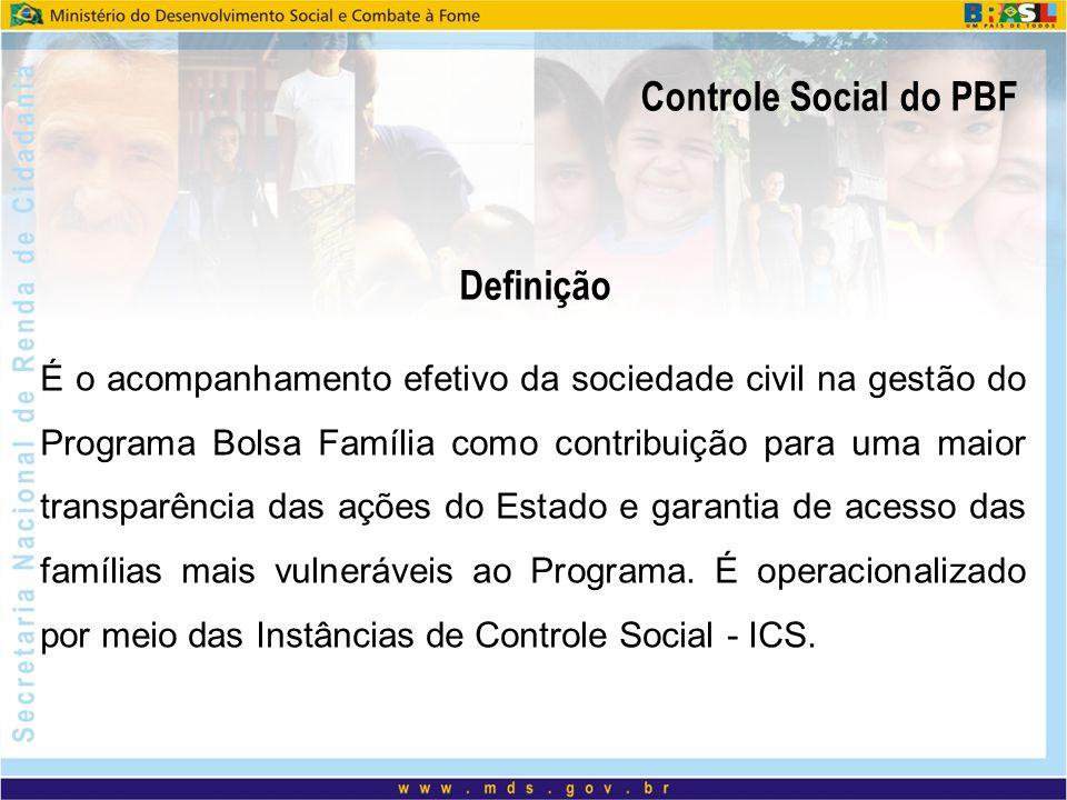 Controle Social do PBF Definição