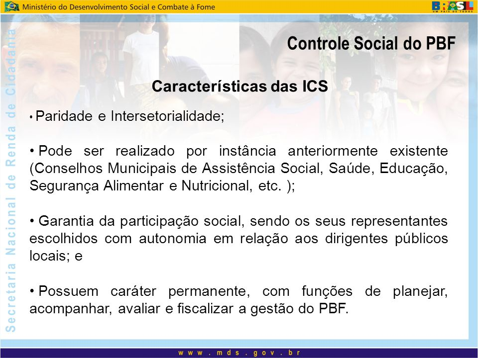 Características das ICS