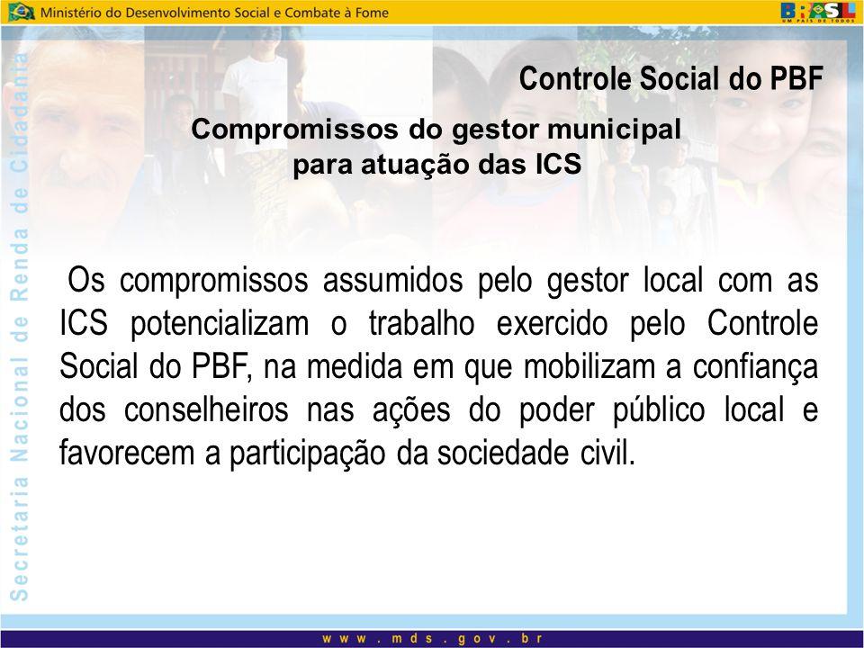Compromissos do gestor municipal para atuação das ICS