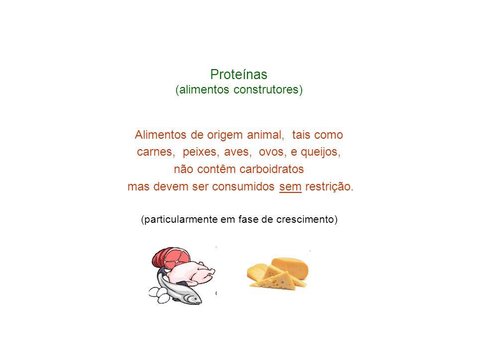 Proteínas (alimentos construtores)