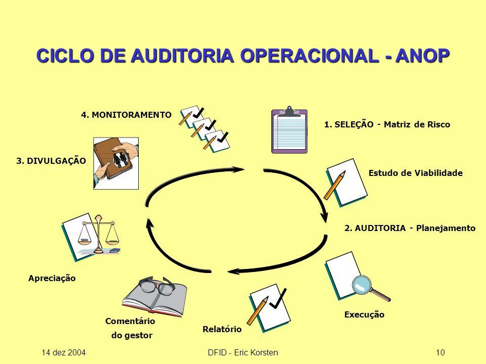 CICLO DE AUDITORIA OPERACIONAL - ANOP
