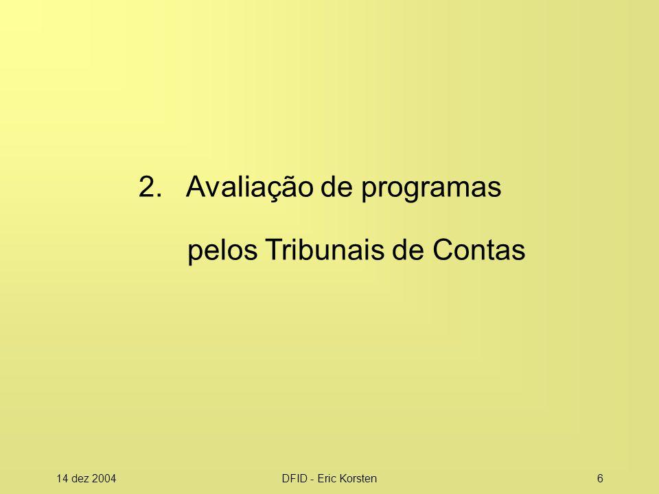 2. Avaliação de programas pelos Tribunais de Contas