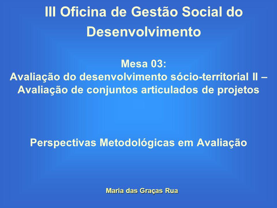 III Oficina de Gestão Social do Desenvolvimento