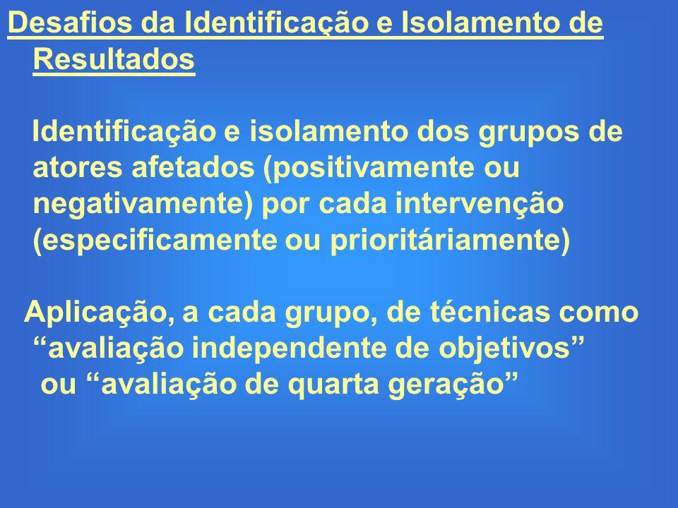 Desafios da Identificação e Isolamento de Resultados