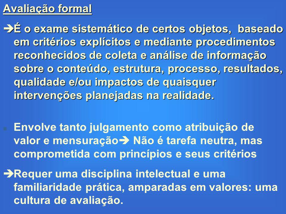 Avaliação formal