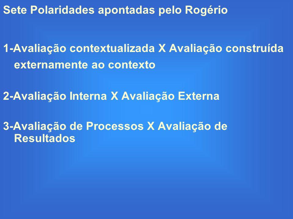 Sete Polaridades apontadas pelo Rogério