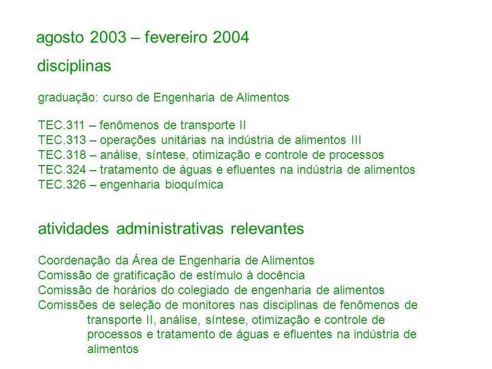 atividades administrativas relevantes