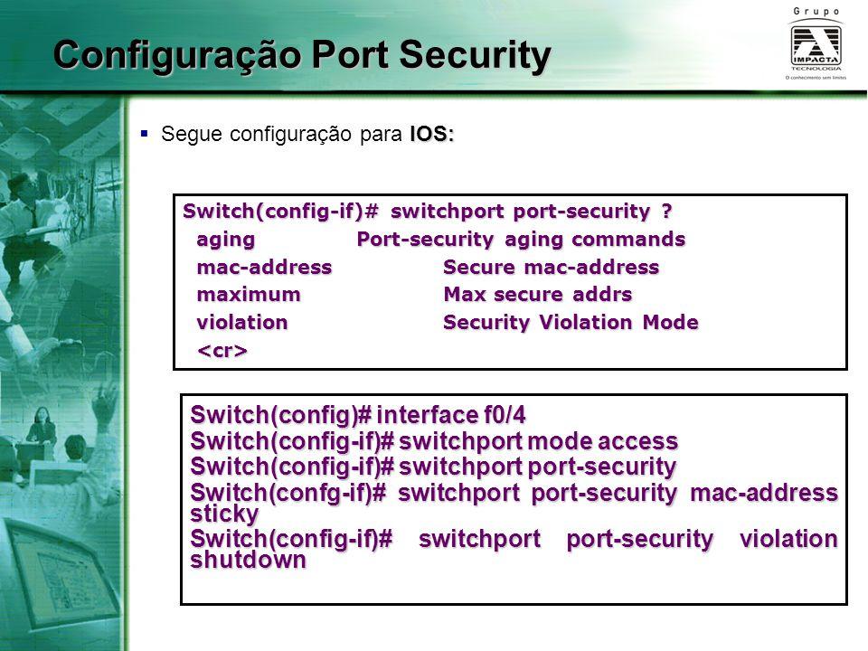 Configuração Port Security
