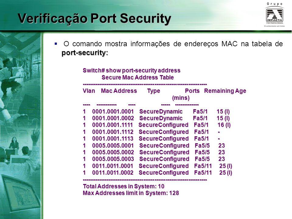 Verificação Port Security