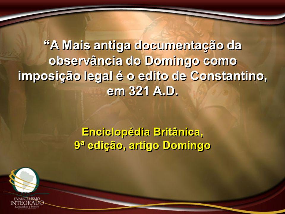 Enciclopédia Britânica, 9ª edição, artigo Domingo