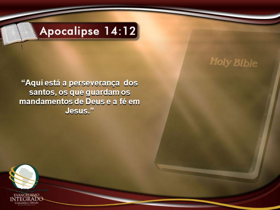 Aqui está a perseverança dos santos, os que guardam os mandamentos de Deus e a fé em Jesus.