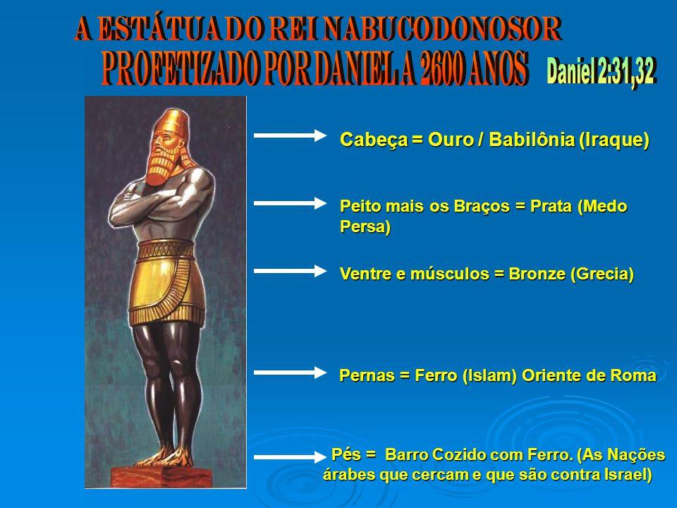 A ESTÁTUA DO REI NABUCODONOSOR Profetizado por Daniel a 2600 anos
