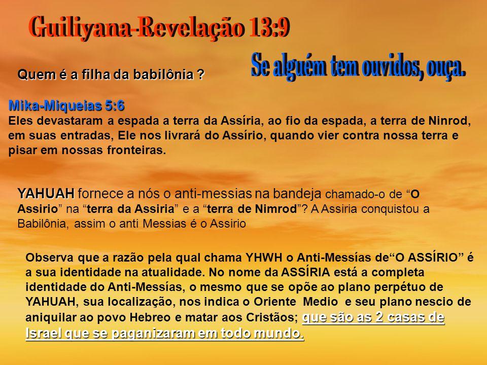 Guiliyana-Revelação 13:9 Se alguém tem ouvidos, ouça.
