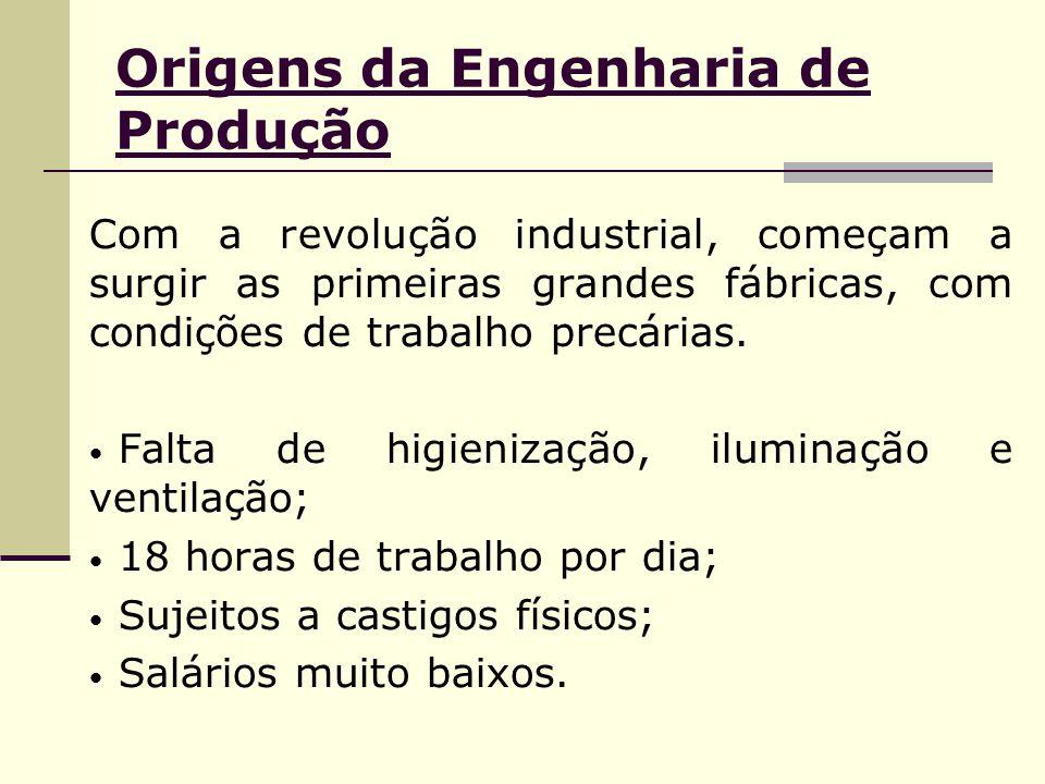Origens da Engenharia de Produção