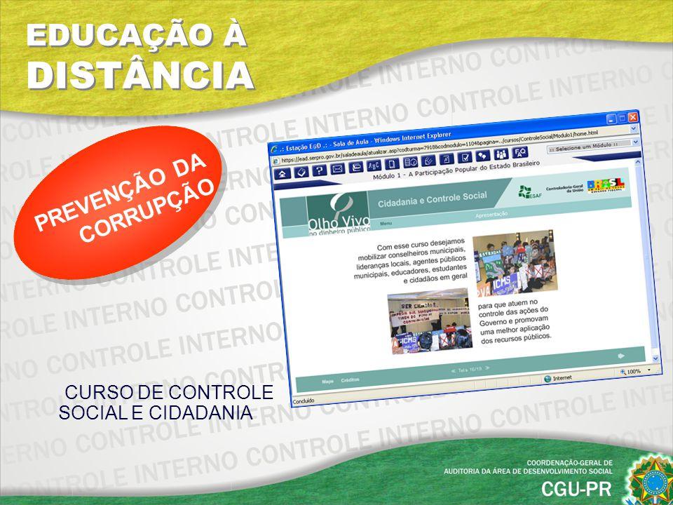 CURSO DE CONTROLE SOCIAL E CIDADANIA