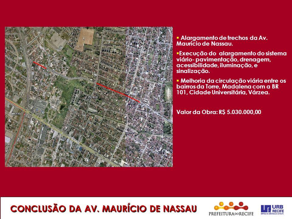 CONCLUSÃO DA AV. MAURÍCIO DE NASSAU