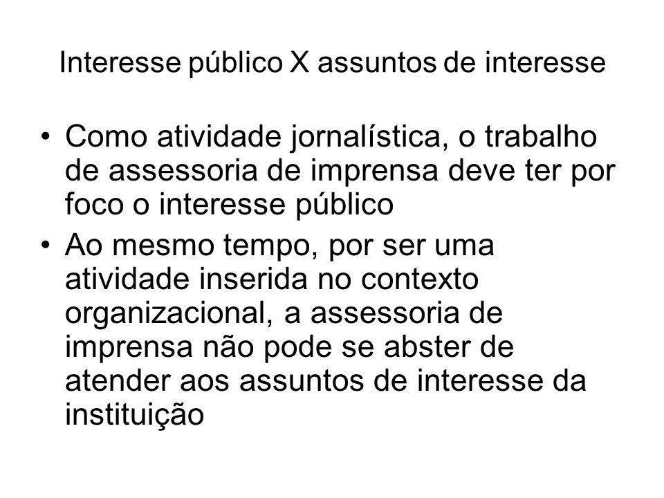Interesse público X assuntos de interesse